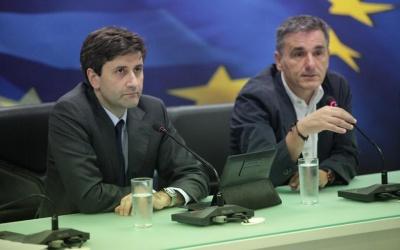Συνάντηση Δραγασάκη, Τσακαλωτου, Χουλιαράκη με Draghi - Στο επίκεντρο το σχέδιο της Ελλάδας για την μετά μνημόνιο εποχή