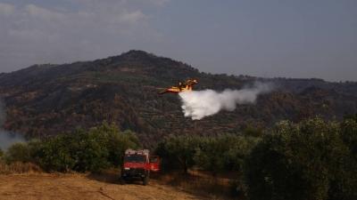 Φωτιά Μάνδρα: Δύσκολο το έργο των πυροσβεστών, οι άνεμοι ενισχύουν το μέτωπο