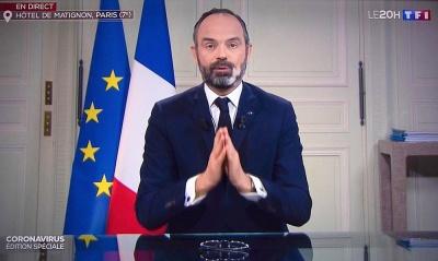 Philippe (πρωθυπουργός Γαλλίας): Η καραντίνα στη χώρα θα διαρκέσει εβδομάδες