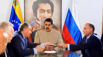 H Βενεζουέλα παραχωρεί στη ρωσική Rosneft δύο πεδία φυσικού αερίου
