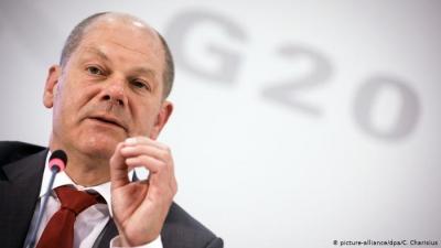 Scholz - G20, Ιταλία: Είναι μεγάλο βήμα, η ομόφωνη υποστήριξη μιας συμφωνίας φορολόγησης των πολυεθνικών