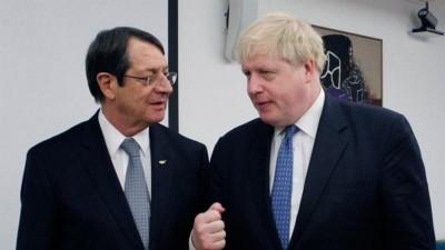 Συνομιλία Αναστασιάδη - Johnson: Πιο ενεργό ρόλο στο Κυπριακό θέλει ο Βρετανός πρωθυπουργός