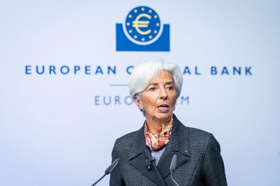Lagarde (ΕΚΤ): Καθοδικοί οι κίνδυνοι βραχυπρόθεσμα - Πρώιμη η συζήτηση για αλλαγές στο πρόγραμμα πανδημίας