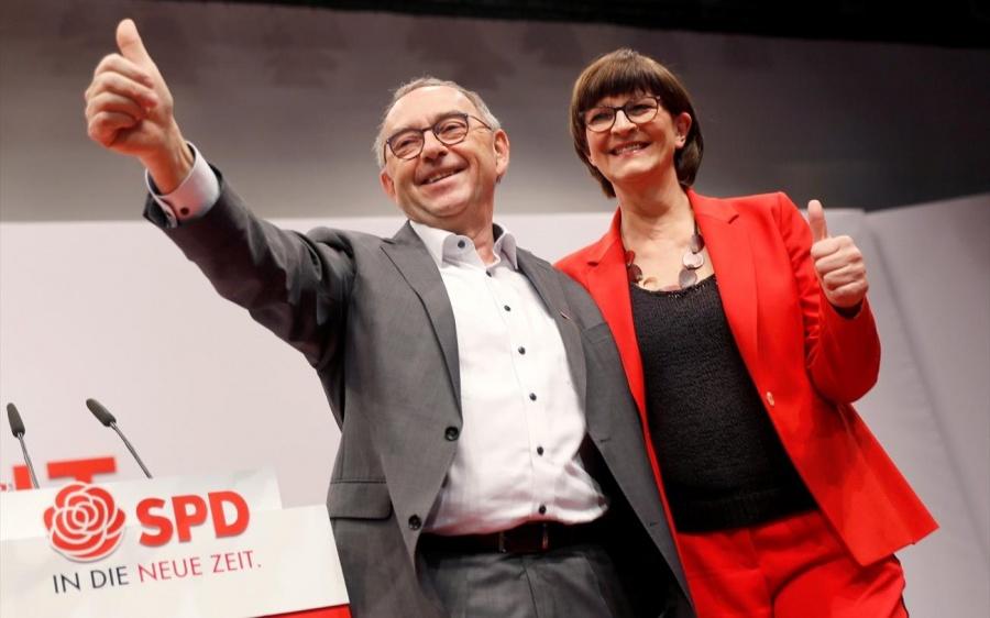 Γερμανία: Πτώση ρεκόρ για το SPD μετά την επιλογή νέας ηγεσίας - Εχασαν 3 μονάδες σε μια εβδομάδα