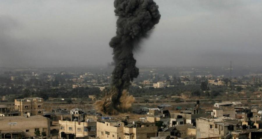 Ισραηλινοί βομβαρδισμοί στη Γάζα, μετά την επίθεση της Χαμάς με ρουκέτες