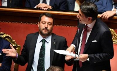Deutsche Welle: Ο κορωνοϊός ενισχύει τον Conte - Η διπλή απειλή για τον Salvini