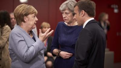 Brexit: Στήριξη από Merkel, Macron ζητά την ύστατη στιγμή η May - Αγωνία ενόψει της Συνόδου Κορυφής της ΕΕ