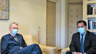 Συνάντηση Γεωργιάδη – Pyatt (ΗΠΑ) με φόντο τις αμερικανικές επενδύσεις στην Ελλάδα