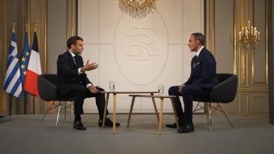 Macron (Γαλλία): Θα κάνουμε τα πάντα για να στηρίξουμε την Ελλάδα -  Θα τη βοηθήσουμε να προστατεύσει τα σύνορά της