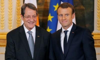 Κυπριακό: Στήριξη Macron σε Αναστασιάδη για λύση στο πλαίσιο των αποφάσεων του ΟΗΕ