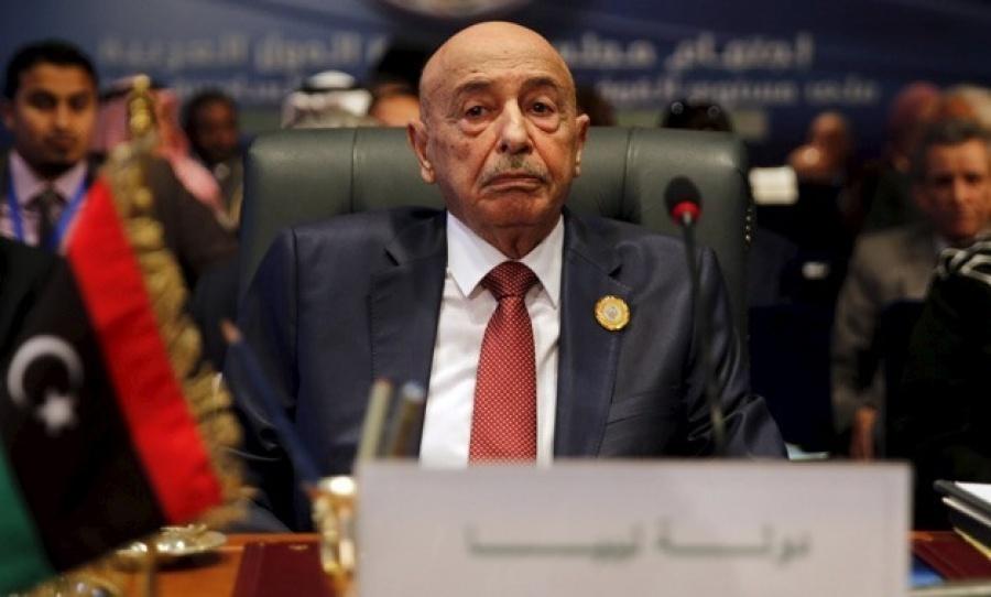 O πρόεδρος της Βουλής της Λιβύης καταγγέλλει στον ΟΗΕ τη συμφωνία με την Τουρκία