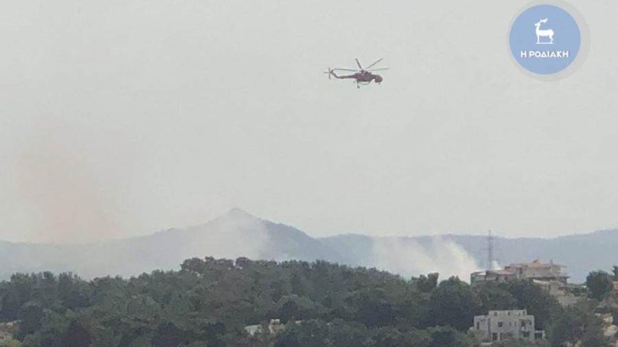 Νέα πυρκαγιά κοντά στη πόλη της Ρόδου