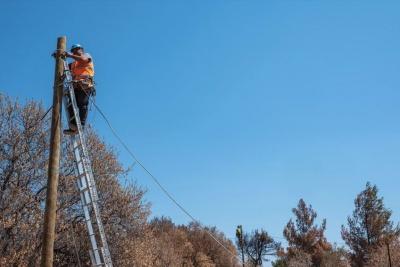 Όμιλος ΟΤΕ: Πλήρης αποκατάσταση δικτύων στον Ν. Βουτζά - Συνεχίζονται εντατικά οι εργασίες στο Μάτι