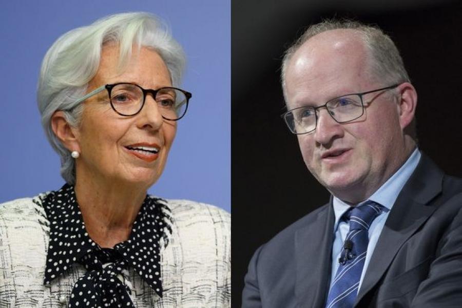EKT: Η Lagarde υπερασπίζεται τις «ιδιωτικές συνομιλίες» του Lane με τους τραπεζίτες