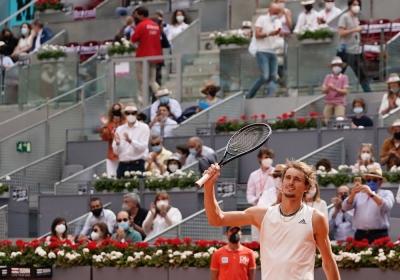 Νικητής στον τελικό του Mutua Madrid Open ο Αλεξάντερ Ζβέρεφ