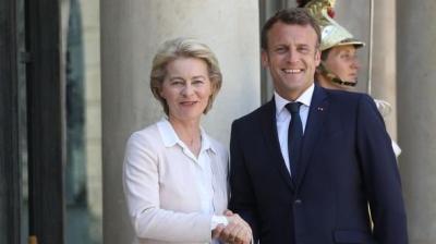 Γαλλία: Την Ursula von der Leyen υποδέχτηκε ο Emmanuel Macron