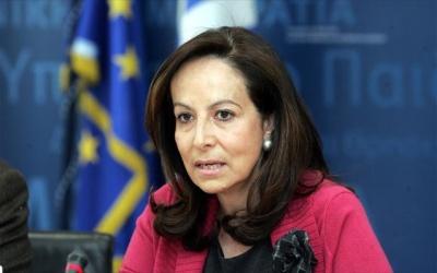 Διαμαντοπούλου: Κίνδυνος διάσπασης του ΚΙΝΑΛ αν συνεργαστεί με τη Νέα Δημοκρατία