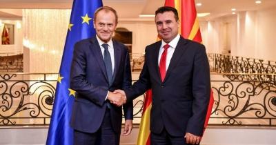 Tusk: Πρωταθλήτρια πολιτικής ωριμότητας η κυβέρνηση του Zaev