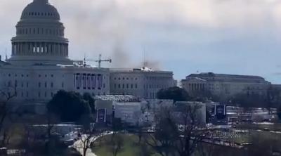 Συναγερμός στο Καπιτώλιο: Άρχισε να βγαίνει καπνός στην πρόβα ορκωμοσίας Biden