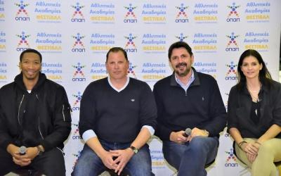 Πέντε κορυφαίοι μπασκετμπολίστες μυούν τα παιδιά των Αθλητικών Ακαδημιών ΟΠΑΠ στις αξίες του Αθλητισμού