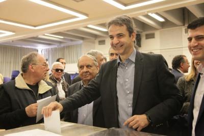 Εσωκομματικές εκλογές ΝΔ: Στο 50% η ανανέωση του κόμματος – Μητσοτάκης: Είμαστε πανέτοιμοι για εκλογές