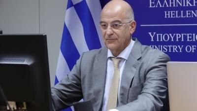 Δένδιας (ΥΠΕΞ): Σταθεροποιητικός ο ρόλος της Ελλάδας σε Ανατολική Μεσόγειο και Βαλκάνια