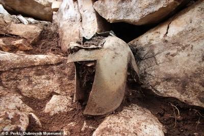 Κροατία: Κράνος αρχαίου Έλληνα πολεμιστή του 7ου αιώνα π.Χ. έφερε στο φως ανασκαφή