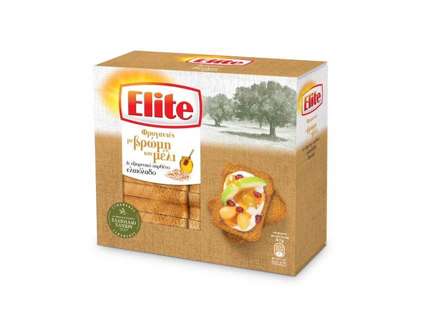 Η Elite καινοτομεί ξανά με δυο νέα προϊόντα: Elite Φρυγανιές με Βρώμη & Μέλι και Elite Crackers Μεσογειακά με Χαρούπι