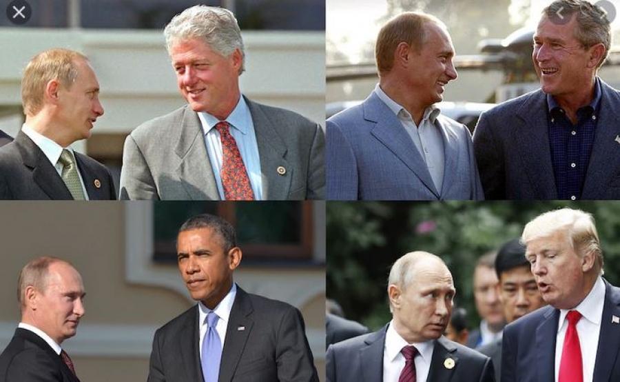 Δύο δεκαετίες τεταμένων σχέσεων μεταξύ του Ρώσου προέδρου Putin και των Αμερικανών ομολόγων του