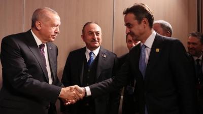 Φρένο από Μαξίμου στα περί συνάντησης Μητσοτάκη με Erdogan: Είναι νωρίς γι' αυτή τη συζήτηση - Ρηματική διακοίνωση στην Τουρκία