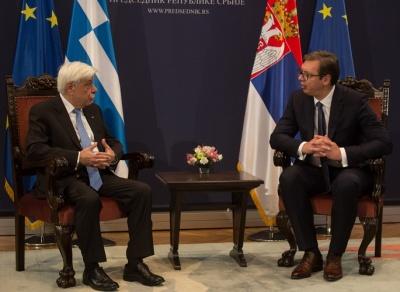 Στην Αθήνα ο Σέρβος πρόεδρος Al. Vucic – Παυλόπουλος: Στηρίζουμε την ευρωπαϊκή προοπτική της Σερβίας