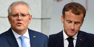 Πρώτη τηλεφωνική επικοινωνία Macron - Morisson μετά την κρίση των υποβρυχίων