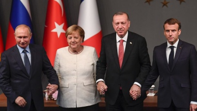 Erdogan: Τετραμερής συνάντηση με Putin, Macron και Merkel για τη Συρία στις 5/3