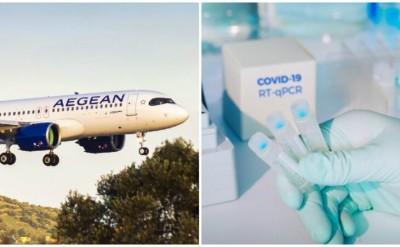 Συνεργασία Aegean Airlines με Βιοϊατρική και Ιατρικό για τεστ covid στους επιβάτες