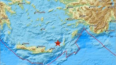 Σεισμός 4,1 Ρίχτερ σημειώθηκε στην Κάσο