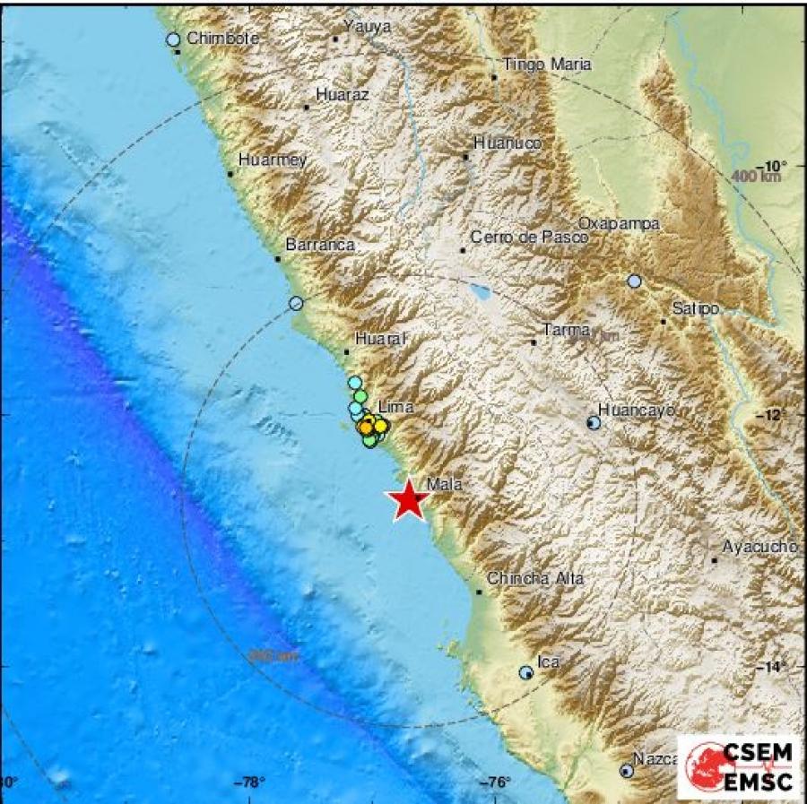 Ισχυρός σεισμός 6 Ρίχτερ χτύπησε το Περού – Δεν υπάρχει κίνδυνος για τσουνάμι