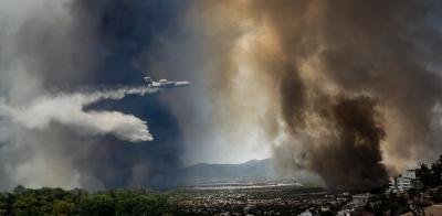 Χαμηλή η ποιότητα του αέρα λόγω των πολλών μικροσωματιδίων από τις πυρκαγιές
