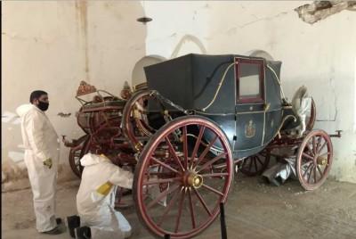 Κτήμα Τατοΐου: Ολοκληρώθηκε η μετακίνηση των βασιλικών αμαξών - Θα στεγαστούν σε νέο μουσείο