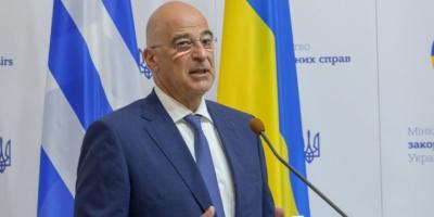 Δένδιας (ΥΠΕΞ) από το Κίεβο: Βασική αρχή για την ενίσχυση των σχέσεων Ελλάδας - Ουκρανίας η αυστηρή προσήλωση στο Διεθνές Δίκαιο