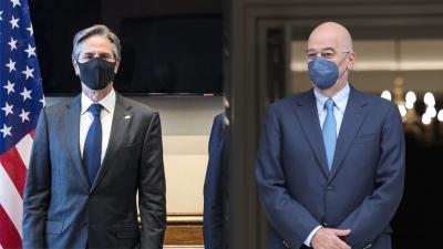 Blinken: Αξιόπιστος σύμμαχος η Ελλάδα - Δένδιας: Αντιμετωπίζουμε απειλή πολέμου - Τι προβλέπει η 5ετής αμυντική συμφωνία