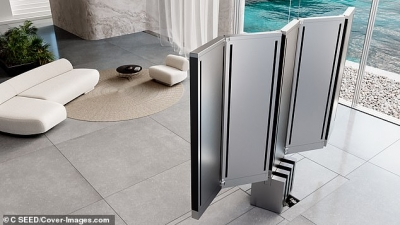 Τηλεόραση που κρύβεται στο πάτωμα όταν... εμφανίζεται και ξετυλίγεται ανοίγει σε οθόνη 165 ιντσών!