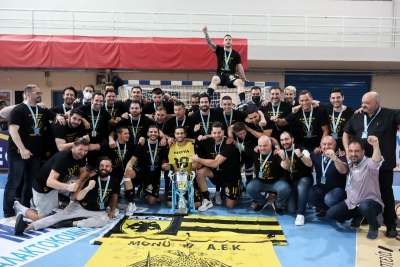 Κυπελλούχος Ελλάδας η ΑΕΚ, 24-22 τον «μαχητή» ΠΑΟΚ! (video)