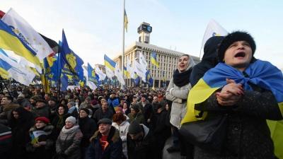 Ουκρανία: Οχι στη συνθηκολόγηση με τη Ρωσία ζητούν πάνω από 5.000 διαδηλωτές στο Κίεβο