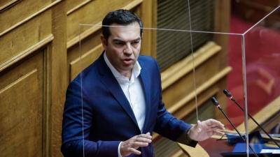 Τσίπρας: Κρεσέντο αστυνομικής βίας σε πολίτες για τήρηση μέτρων που παραβιάζει ο κ. Μητσοτάκης
