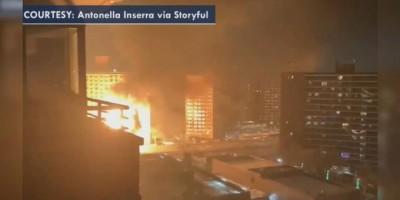 Νέα Υόρκη: Πύρινη «κόλαση» μετά από έκρηξη σε φορτηγό που μετέφερε 294 δεξαμενές προπανίου