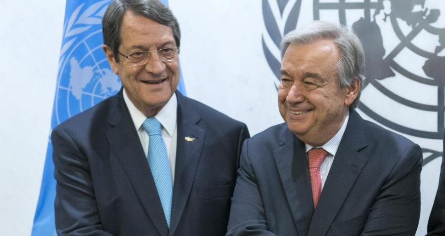 Κυπριακό: Επιστολή - πρόσκληση Guterres στον Αναστασιάδη για την Πενταμερή Διάσκεψη