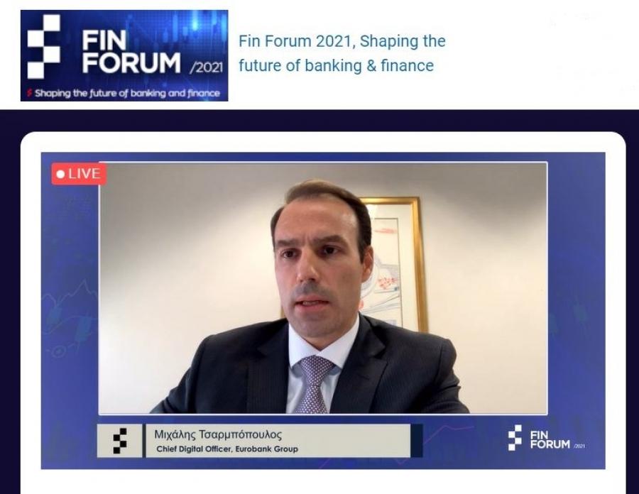 Τσαρμπόπουλος (Eurobank): Ο ψηφιακός μετασχηματισμός των τραπεζών είναι αναγκαία συνθήκη επιβίωσης