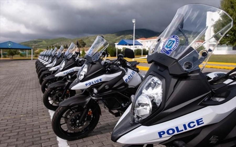 Παρελήφθησαν 17 καινούριες μοτοσυκλέτες από την Ελληνική Αστυνομία