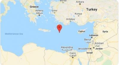Ισχυρός σεισμός 6,1 Ρίχτερ σε θαλάσσιο χώρο ανοικτά της Καρπάθου