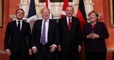 «Χρήσιμη» συνάντηση για τη Συρία είχαν στο Λονδίνο Macron, Merkel, Johnson, Erdogan